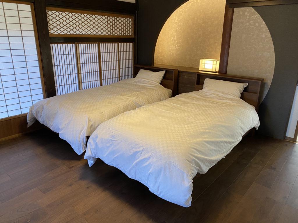 古民家ホテル用の寝具として